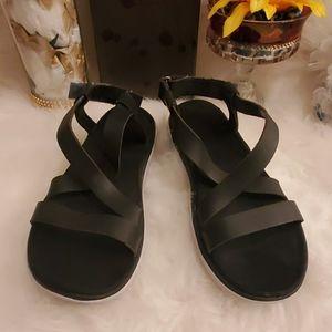 Teva black sandals.